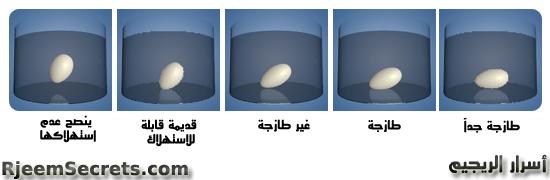 اختبار البيض الطازج